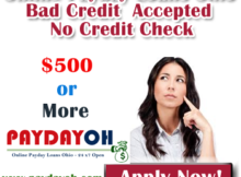 Online Payday Loans Ohio Bad Credit Accepted No Credit Check
