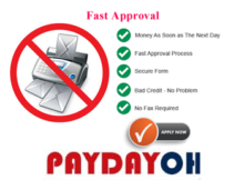 fax free no fax payday loans ohio