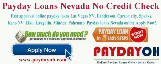 payday loans nevada no credit check