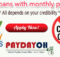 payday loans with monthly payments no credit check