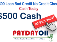 $500 Loan Bad Credit No Credit Check Cash Today