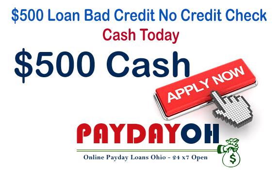 $500 Loan Bad Credit No Credit Check Cash Today