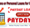 Personal or Payday Loans For Unemployed