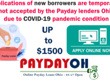 Payday lenders due to COVID-19