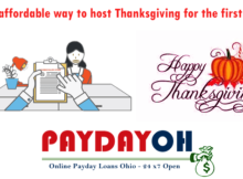 Most affordable way to host Thanksgiving for the first time PaydayOH