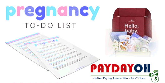 complete list from pregnancy to birth PaydayOH
